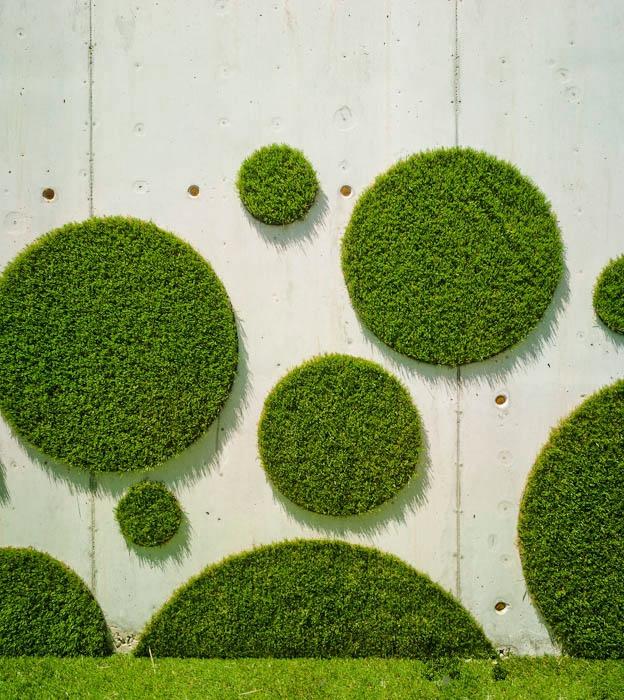 仿真草背景墙 人造草皮设计