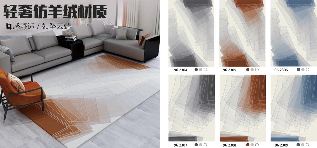 客厅地毯 威尔顿地毯 家用块毯