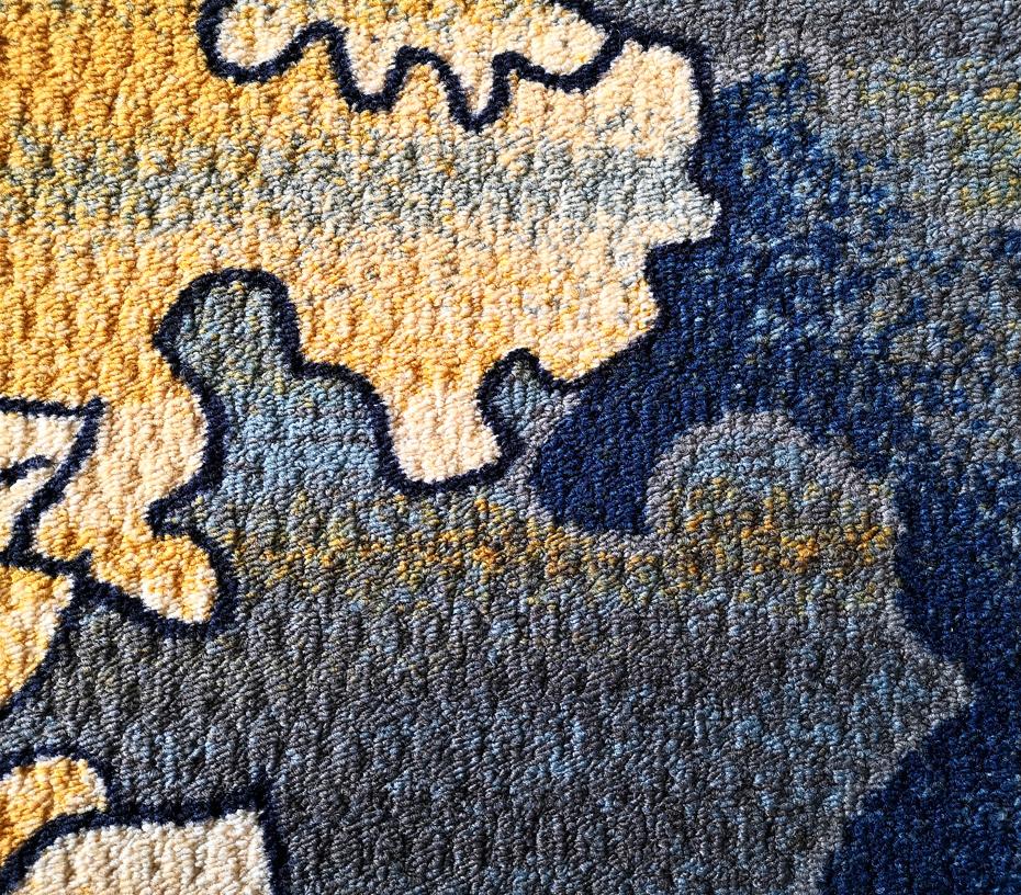 印花地毯 流泉 毯面细节