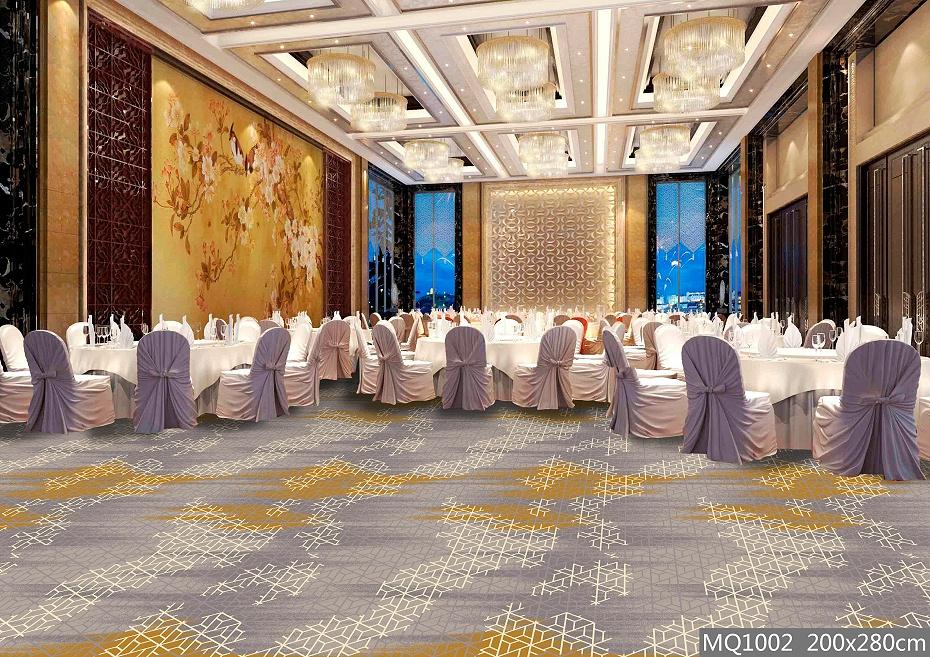 圈绒印花 餐厅地毯