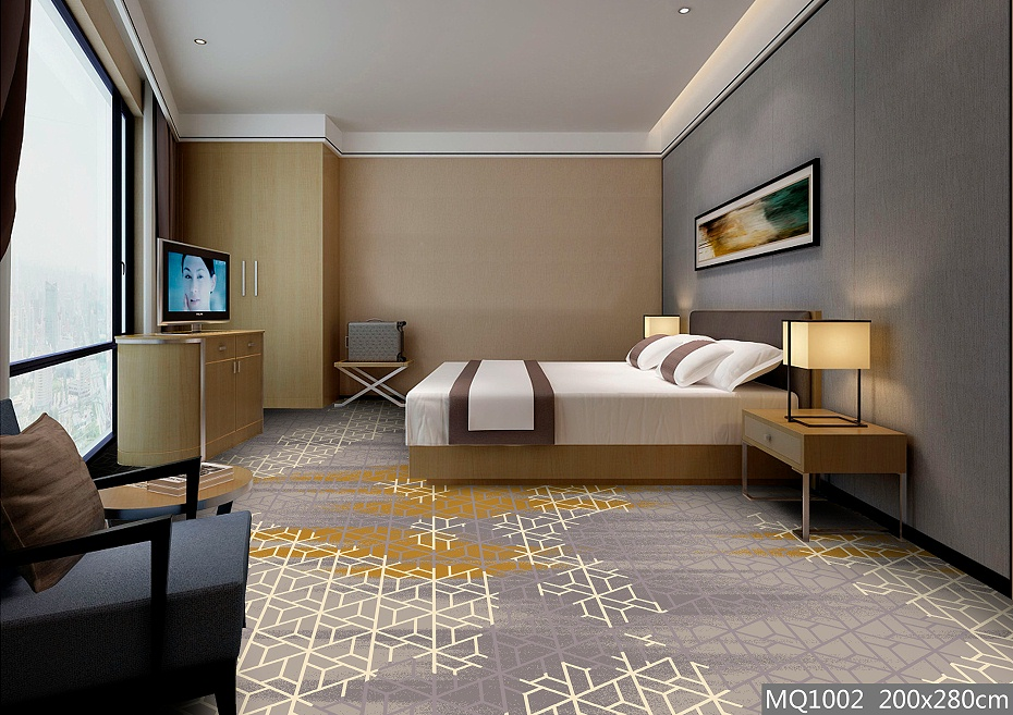 圈绒印花 客房地毯