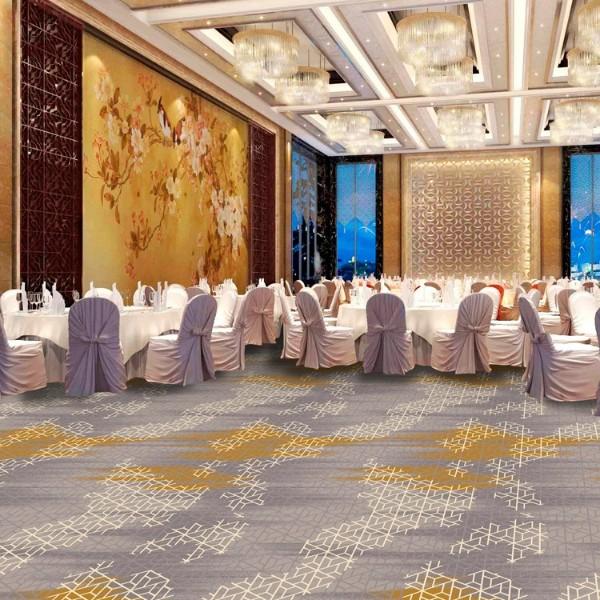 酒店地毯餐厅地毯-圈绒印花地毯-MQ1002