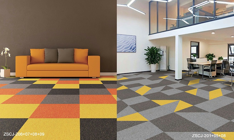 长江尼龙方块地毯