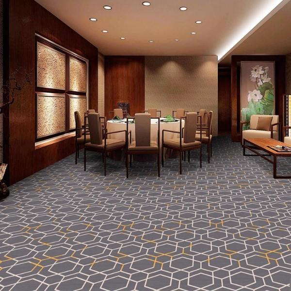 宴会厅餐包地毯-圈绒印花地毯-MQT801