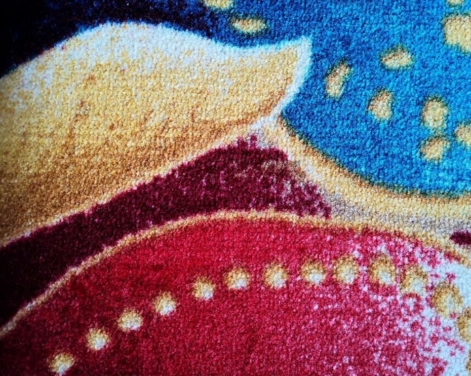 印花地毯毯面