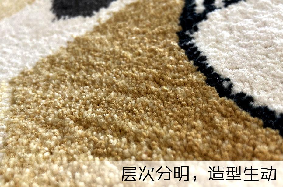 手工地毯层次分明