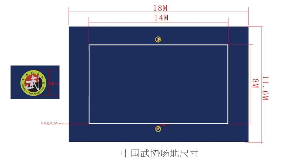 中国武协 武术地毯 武术比赛场地