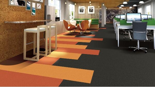 办公室地毯---方块地毯的铺装流程