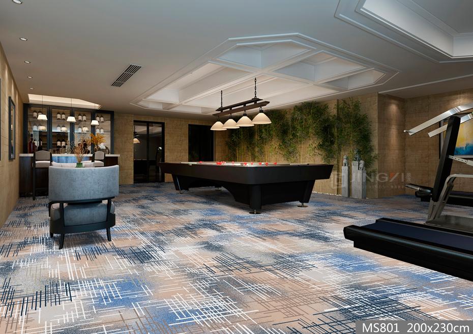 MS801酒店地毯 桌球房地毯