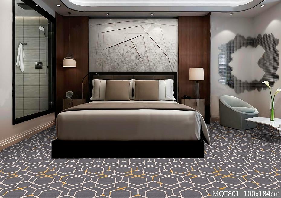 圈绒印花地毯 MQT801 客房地毯