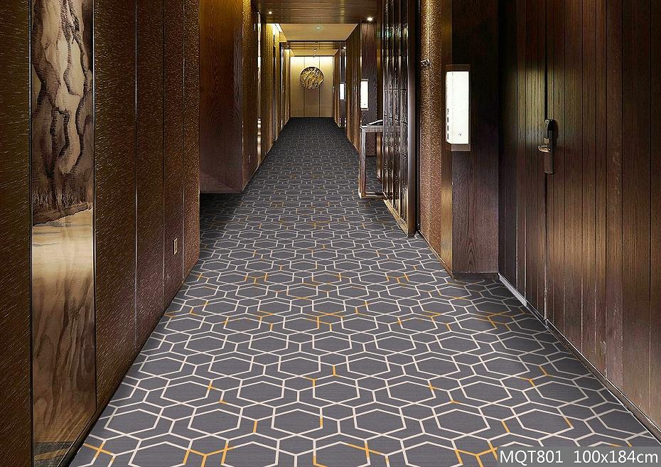 绒印花地毯 MQT801 酒店走道地毯