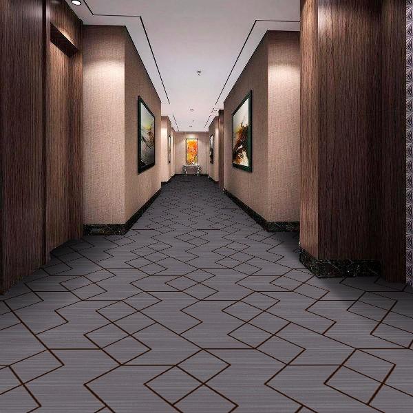酒店地毯走道地毯-圈绒印花地毯-MQ1001