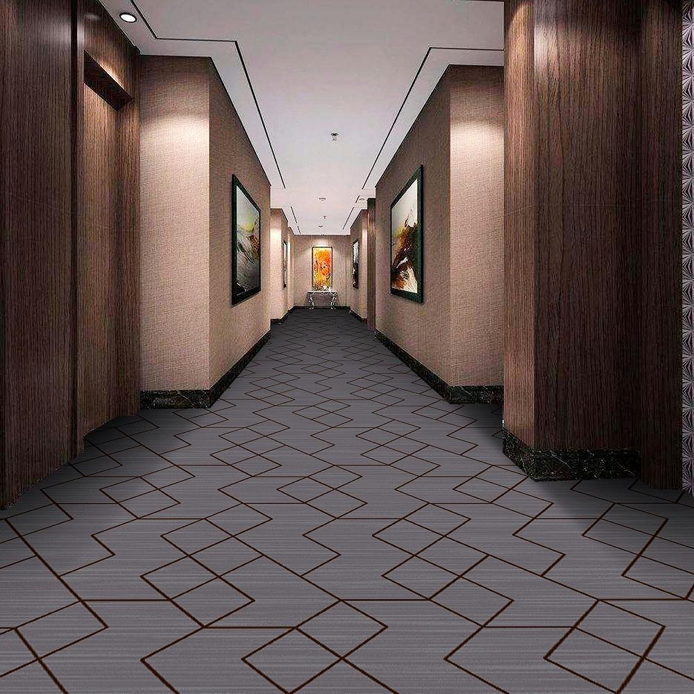 圈绒印花地毯 走道地毯  走廊地毯 酒店地毯