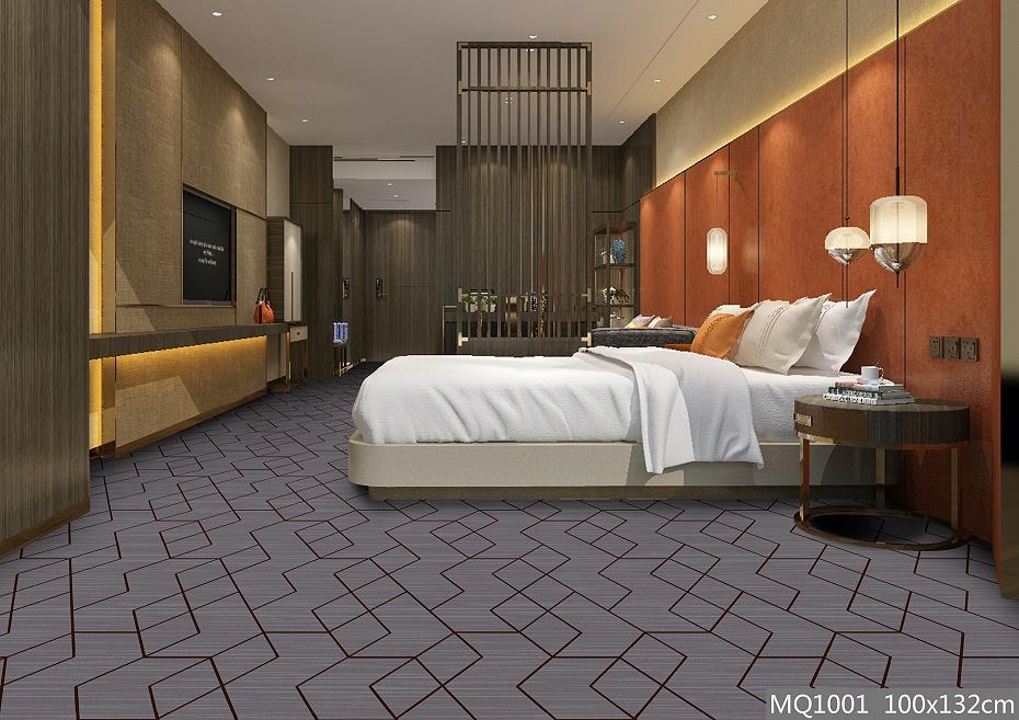 圈绒印花地毯 MQ1001 客房地毯