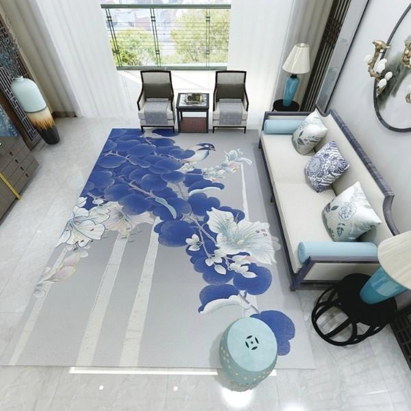 新中式花鸟系列——客厅地毯-家装地毯-别墅地毯-卧室地毯