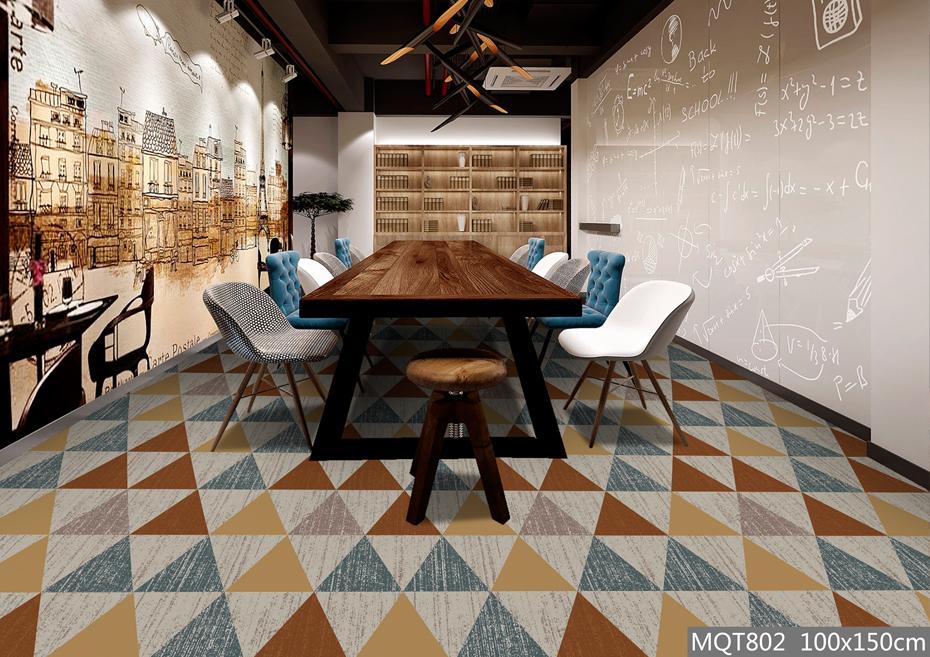 圈绒印花地毯 MQT802 餐厅地毯