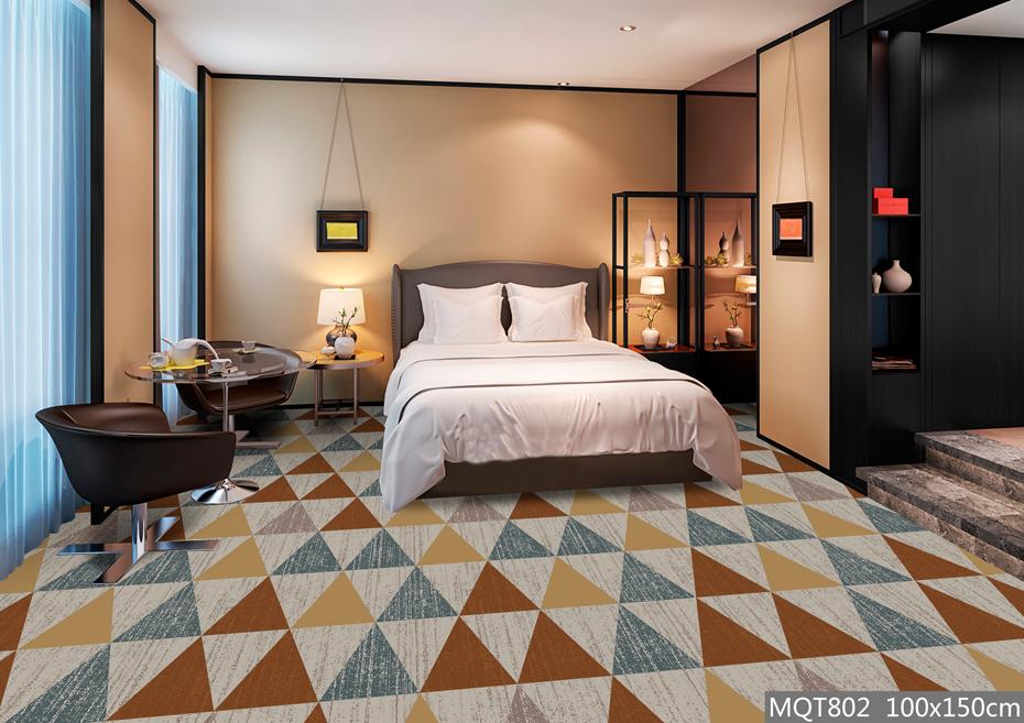 圈绒印花地毯 MQT802 客房地毯