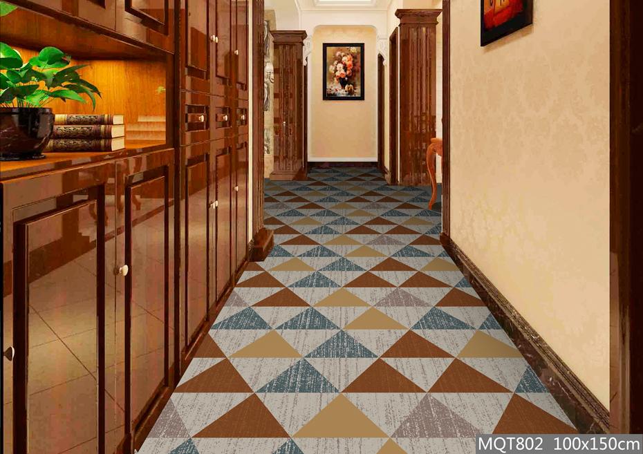 绒印花地毯 MQT802 酒店走道地毯