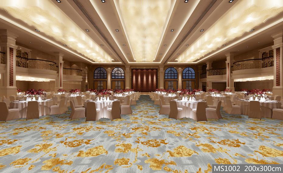 高清印花 宴会厅地毯 宾馆地毯